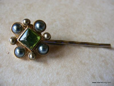 Vintage greens hair pin