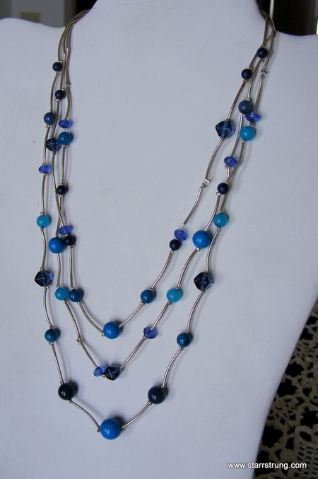 Beads of Blue Necklace