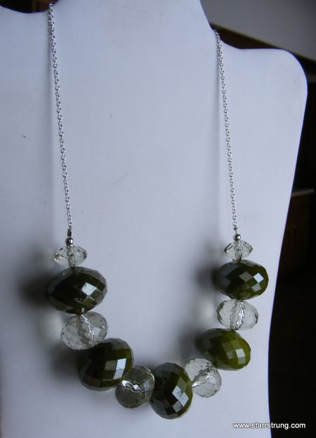 Peridot Clear Necklace